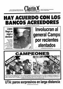 La Argentina de abril de 1987 era compleja. Entre tanta, se filtró un ascenso a primera división increible: el de Deportivo Armenio.