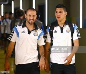 Rodrigo Palacio y Enzo Pérez. Debutaron profesionalmente en el Torneo Argentino A.