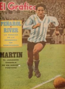Oscar Martín, capitán del equipo, tapa de El Gráfico luego de la victoria ante Ferro.
