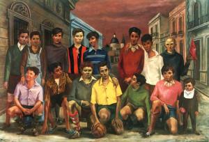 """""""Team de Fútbol"""". Oleo del rosarino Antonio Berni. Una muestra del fútbol argentino a comienzos del siglo XX. Una muestra de nuestra cuna criolla."""