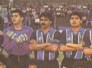 Noviembre de 1991. El Comisario con la Tricolor de Almagro. Acarició el ascenso al Nacional B.
