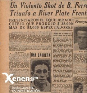 31 de mayo de 1932. Otra bisagra. Golazo a Juan Botasso para derrotar al Racing Club en el partido del campeonato.