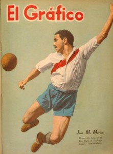 José Manuel Moreno, el ídolo. Tapa de El Gráfico en octubre de 1941.