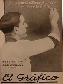 Hugo Settis, uno de los anarquistas. Futbolistas que pelearon por sus derechos laborales. A través esa lucha, los dirigentes armaron la LAF. El mal llamado Profesionalismo.