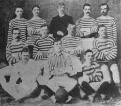 El equipo de St. Andrew, primer campeón oficial y ganador de una final.