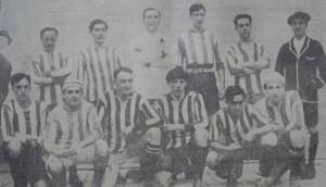 El equipo de Porteño campeón 1912. Se jugó una final cuando - por reglamento - no debía disputarse. Insólito.
