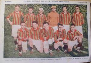 Liberal Argentino. Camiseta verdiroja. Jugó primera división hasta 1927.