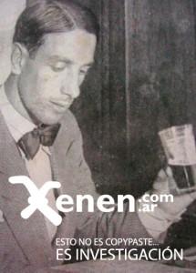 Una joyita del archivo XENEN. Perinetti, vaso en mano, mostrando la pinta de dandy de la época. Iba finalizando la década del 20...