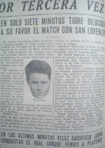 La tarde que todo cambió. Bernabé Ferreyra le convirtió tres goles a San Lorenzo, dando vuelta el partido él solo. Para la historia.