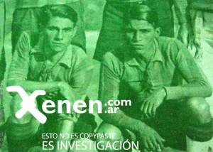 Rómulo Ojeda y Porfirio Sosa Largo. Ojeda Argentino, Sosa Largo Paraguayo. El guaraní llegó a vestir luego las camisetas de River Plate y el Racing Club.