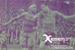 24 de julio de 1932. En la vieja cancha xeneize, los paraguayos enfrentaron a Boca Juniors. Tranquilino Garcete mete con ganas ante la presencia de Luis Huesito Sánchez. Esa tarde lluviosa el partido no finalizó.