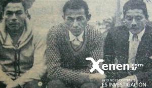 No eran todos paraguayos. En la foto aparecen Pedro Munt, Tranquilino Garcete y el argentino Jacinto Venialbo. A la derecha, junto a Munt y Garcette, se encuentra Jacinto Venialbo. Argentino, nacido en Misiones. Eran la linea media del equipo.