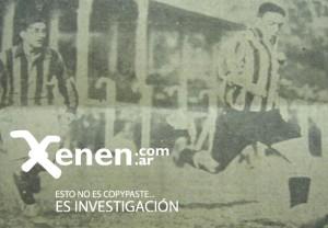 Flecha de Oro Lauri deja en el camino al cordobés Pacheco. Los Profesores remontaron un 0-3 en el Gasómetro. Año 1932.