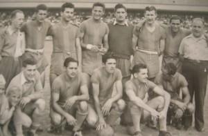 Una tarde especial para Aldo (segundo jugador parado desde la izquierda). Fue el 19/6/1949. Era el regreso a la Bombonera. No fue con suerte: Boca goleó 6-1 al Bohemio