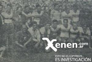 5 de diciembre de 1959. El equipo de Chacarita que venció 2 a 0 a Talleres de Escalada y regresó a la máxima divisional.