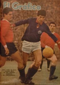 La primera tapa de El Gráfico para el Bambino. Una tarde espectacular. Tres goles a Independiente. 23 de agosto de 1964. Esa tarde no jugaron todos los Carasucias. Es parte del mito.