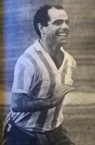 Luis Pentrelli. El veterano cerebro del Racing 1965. A comienzos del año siguiente pasó al fútbol colombiano.
