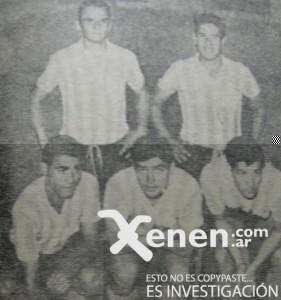14 de febrero de 1966. Amistoso ante Sparta Praga. La delantera racinguista: Vicente, Parenti, Cárdenas, Martinoli y J.J Rodríguez.