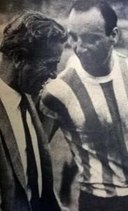 Terminó el partido. Renato Cesarini y el Bocha Maschio. Dos grandes en serio.