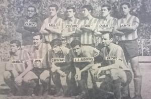 20 de Noviembre de 1966. El equipo que se consagró campeón en La Plata.