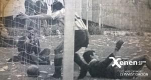 El Yaya Rodriguez festeja el gol de Roberto Perfumo. El 70 de la temporada.