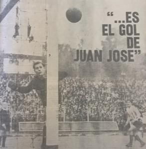 Gironacci no llega. El Yaya marca el primer gol del partido. Los goles de Juan José Rodriguez para el equipo de Juan José Pizzuti.