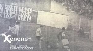 El derechazo del Yaya se convertirá en el único gol de la tarde. Racing igualaba el récord de Boca 1943/44.