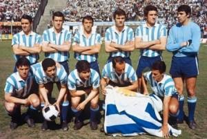 Tarde de gloria para el fútbol argentino. Miércoles 4 de noviembre de 1967. Racing formado antes de enfrentar al Celtic. El zurdazo del Chango...