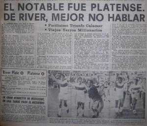 Entre 1967 y 1970, Platense vivió los mejores años futbolísticos. Acarició dos veces el título de primera división, con actuaciones memorables. Un equipo que se sabía de memoría: Topini; Piris y Capdevilla; Asaneo, Perez y Rivero; Miranda, Muggione, Bulla, Subiat y Valdez.