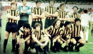 El equipo de Rosario Central campeón del Nacional 1971. El primer equipo del interior campeón del fútbol argentino.