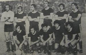 San Martin de Mendoza que hizo historia en 1973: Tomagnone, Gramari, Márquez, Zurialde, Vergara y Tévez. Abajo: Ibáñez, Guzmán, Barroso, Monárdez y Maryllack.
