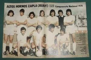 Póster de Altos Hornos Zapla 1974. Los jujeños se convirtieron en un clásico de los nacionales.