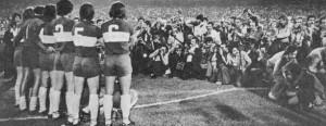 El equipo xeneize formado en la previa de la única final que enfrentó a Boca Juniors y River Plate: la del Nacional 1976.
