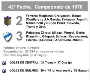 LDT 1978 Central Quilmes formaciones xenen
