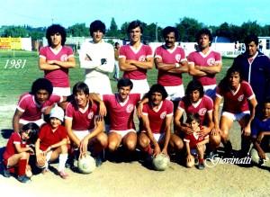 Rentistas de Montevideo. Año 1981. Con 19 años, Rabuñal es el quinto de los agachados. Se revelaba como crack.
