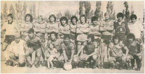 El equipo de Deportivo Roca de Río Negro formado en el Nacional 1982.