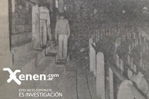 Finalizado el partido, empleados de Boca Juniors fueron hacia el lugar donde estaba Basile. Aun había rastros de sangre.