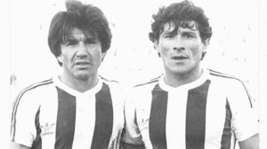 El santiagueño Luis Galván y el cordobés Miguel Oviedo. Puntales defensivos de aquel equipo que movió el mapa del fútbol argentino. Ambos campeones del mundo 1978.