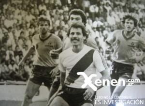 12 de octubre de 1983. Trossero ante Central. Minutos después moriría en el vestuario.