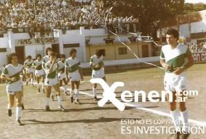 21 de diciembre de 1985. Sale Armenio al campo de juego de Defensores. Final del Octogonal ante Almagro. Dos símbolos encabezan la fila: el capitán Miguel Gardarian y el talentoso José Úbeda.