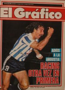 Otra tapa de El Gráfico. Mítica. El grito para todos los tiempos. 27 de diciembre de 1985. Su gol significó un ascenso.