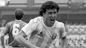 El grito goleador de Jorge Valdano. Formado en Newell´s. Cuna de cracks.