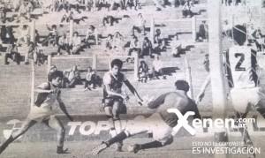 15 de marzo de 1987. La definición de Sergio Maciel ante la salida de Raul Zurita, arquero visitante. Deportivo Armenio 2 - 0 Central Norte.