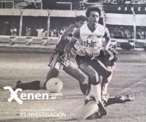21 de febrero de 1987. Penal de Carlos López a Cincunegui. Será el primer gol de Armenio en su triunfo ante Tigre.
