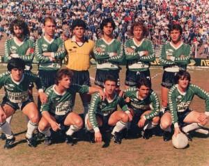 20 de agosto de 1988. Banfield 3 - 1 Quilmes. Birriel, Giovagnoli, Ferrari, Berruti, Orte y Ramirez; Aquino, Solari, Benítez, Cardozo y Salaberry.