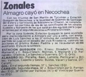 La crónica del partido ante Almagro en Necochea. En Buenos Aires nadie creía en la chance de los verdes.