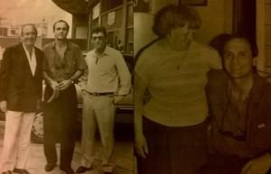 Enero de 1991.Perfumo volvía a Racing. Junto al presidente Juan D´Stéfano. Reencontrándose con Tita Mattiussi.