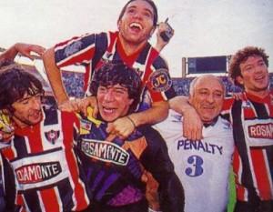 4 de junio de 1994. Un festejo monumental. Chacarita superó a Tigre y ascendía al Nacional B.