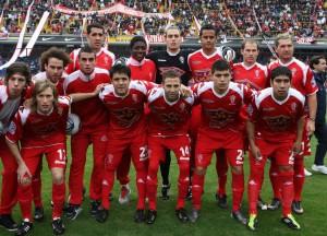 El equipo de Huracán que perdió la categoría ante Gimnasia.