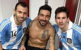 Mascherano, Messi y Lavezzi. Santa Fe, capital del fútbol argentino.